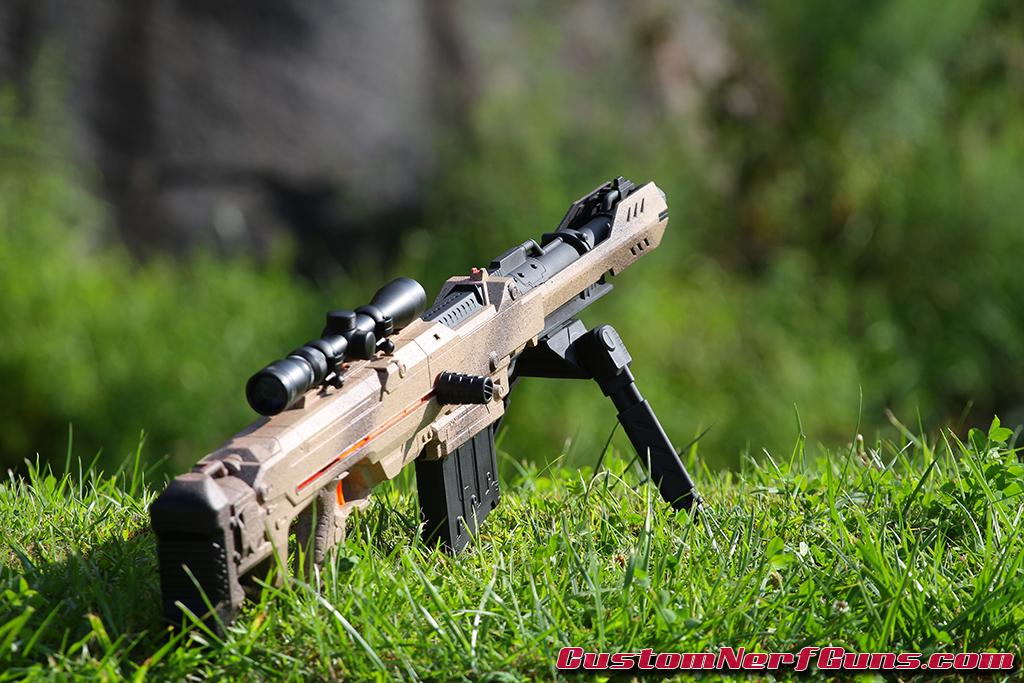 Killboy Custom Nerf Mega Centurion Gun - Desert Camo